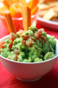 Fresh Guacamole, with Carrot Sticks